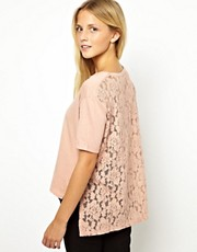 ASOS T-Shirt with Lace Back and Side Slit