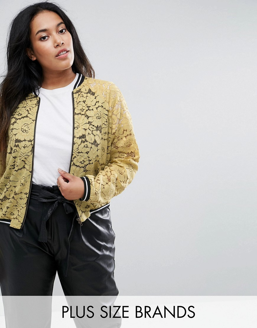 Elvi Lace Bomber - Yellow