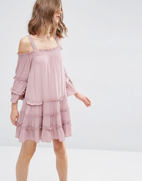 ASOS Tiered Cold Shoulder Sundress