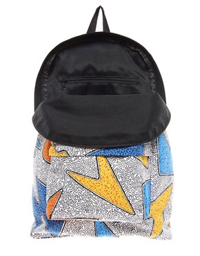 Image 2 of ASOS Backpack With All Over Print
