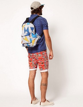 Image 3 of ASOS Backpack With All Over Print