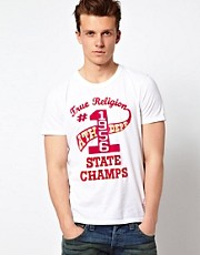 True Religion T-Shirt State Champs Flock Logo