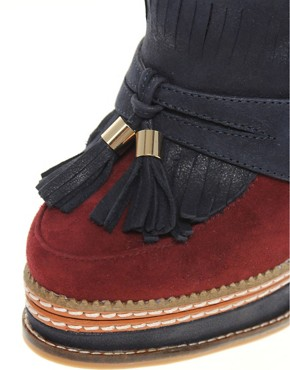 Image 3 ofRiver Island Tassle Fringe Platform Heels