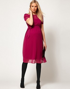 Image 4 of ASOS Maternity Exclusive Midi Dress