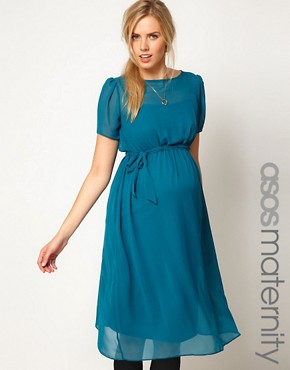 Image 1 of ASOS Maternity Exclusive Midi Dress