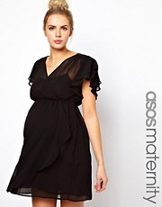 ASOS Maternity Skater Dress with 70&#39;s Frill