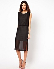 Warehouse Jersey Lined Column Midi Dress