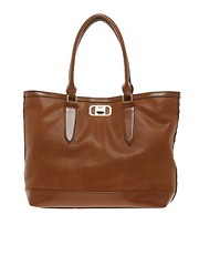 River Island Tan East West Side Stud Tote Bag