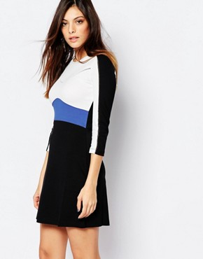 French Connection Manhattan Dress In Colourblock