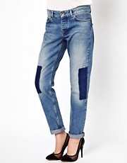 ASOS Brady Slim Boyfriend Jeans With Shadow Detail