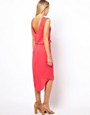 Vila Dipped Hem Dress