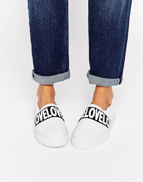 ASOS DOLSTON Feel The Love Plimsolls