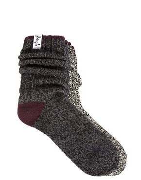 Image 1 ofPringle 2 Pack Boot Socks