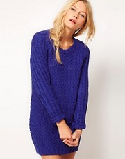 ASOS Textured Stitch Jumper Dress