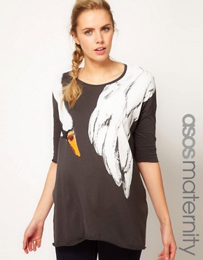 Image 1 ofASOS Maternity T-Shirt With Swan Print
