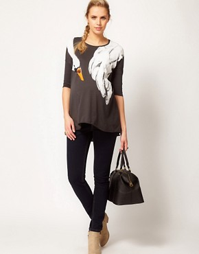 Image 4 ofASOS Maternity T-Shirt With Swan Print