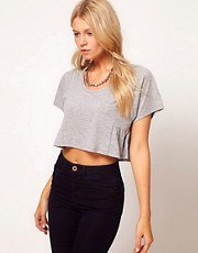 ASOS Cropped T-Shirt with Frill Side