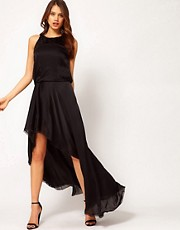 Halston Heritage Asymmetrical Hem Dress
