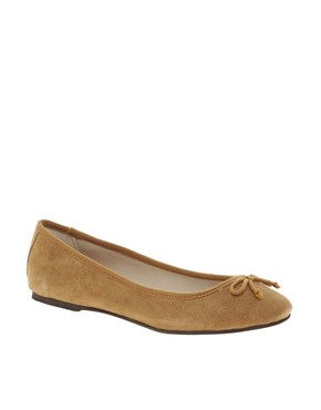 Image 1 ofLondon Rebel Suede Ballet Pumps