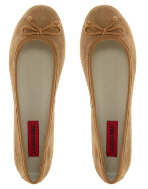Image 3 ofLondon Rebel Suede Ballet Pumps