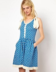 Orla Kiely Flower Polka Dot Sundress with Silk Bows
