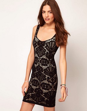Image 1 ofFree People Lace Bodycon Dress