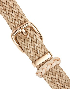 Image 2 ofOasis Plait Leather Belt