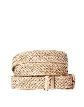 Image 1 ofOasis Plait Leather Belt