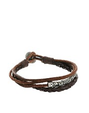 Icon Brand Leather Bracelet