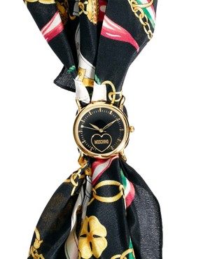 Image 4 ofMoschino Cheap &amp; Chic Fashion Victim Scarf Watch