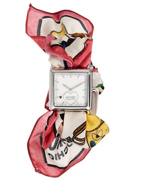 Image 1 ofMoschino Cheap &amp; Chic Fashion Victim Scarf Watch