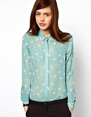ASOS Shirt In I Heart Pug Print