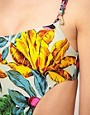 Image 3 ofMarc By Marc Jacobs Havana Floral Cut Out Swimsuit