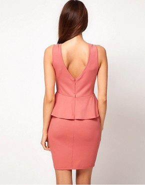 Image 2 ofLipsy Embellished Neck Dress With Peplum