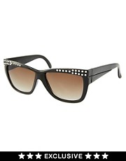 Jeepers Peepers Vintage Exclusive to ASOS Diamante Sunglasses