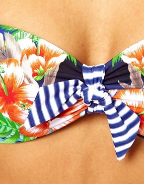Image 3 ofSeafolly Aloha Tie Front Bandeau Bikini Top