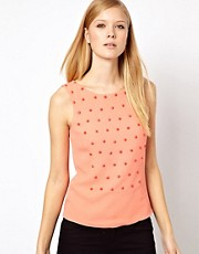Karen Millen Woven Top with Beading