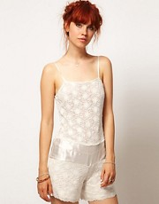 ASOS SALON Playsuit In Floral Lace