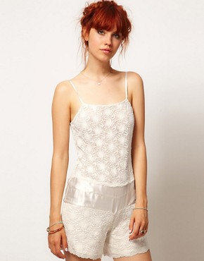 Image 1 ofASOS SALON Playsuit In Floral Lace