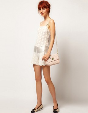 Image 4 ofASOS SALON Playsuit In Floral Lace