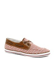 ASOS Boat Shoes With Ikat Print