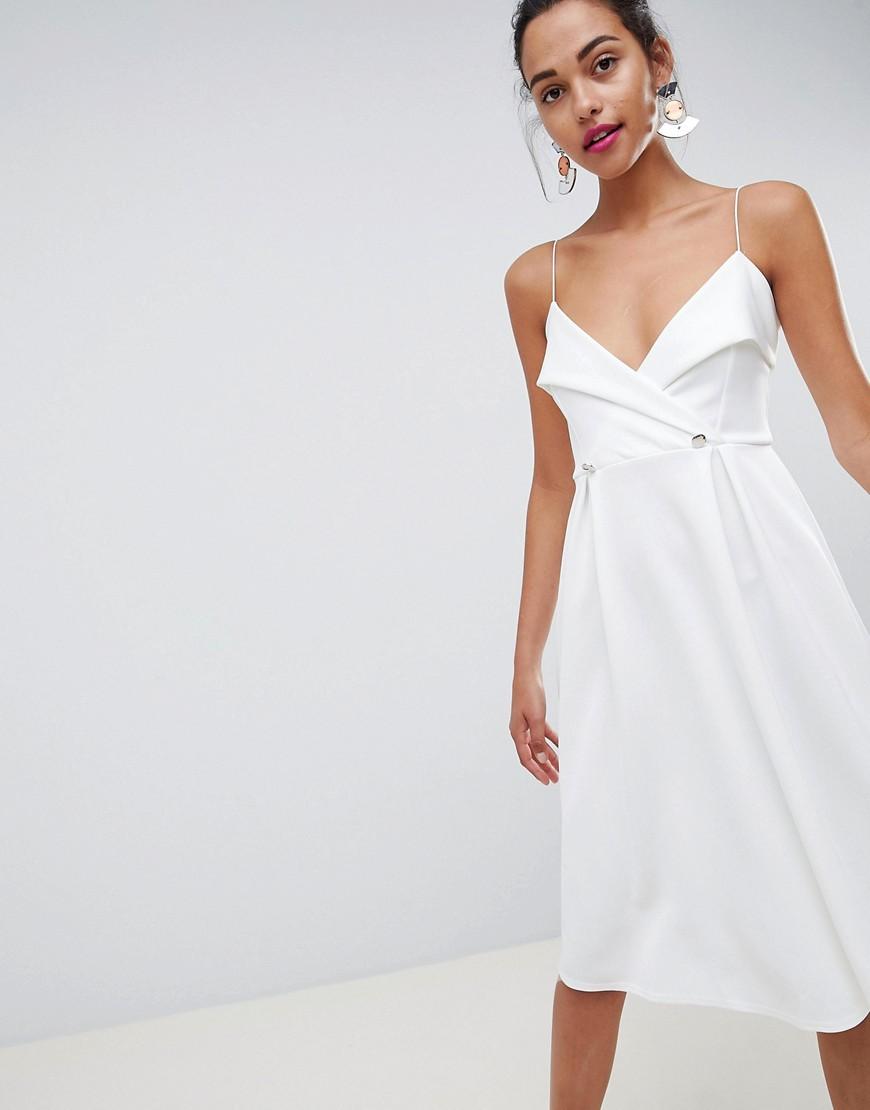 Фото - Платье миди для выпускного ASOS DESIGN - Белый белого цвета