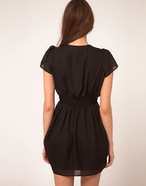 Image 2 of ASOS Tulip Dress With V Neck