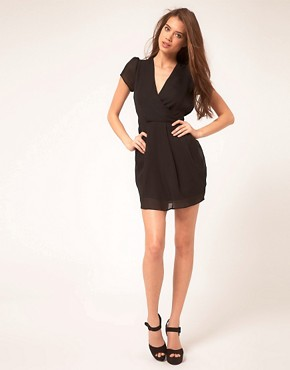 Image 4 of ASOS Tulip Dress With V Neck