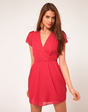 Image 1 of ASOS Tulip Dress With V Neck