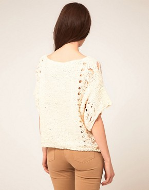 Image 2 ofKookai Knit Jumper With Fringe Detail