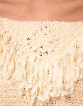Image 3 ofKookai Knit Jumper With Fringe Detail