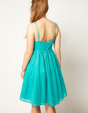 Image 2 ofASOS CURVE Empire Summer Dress With Cross Strap