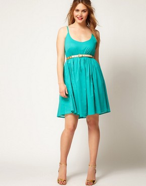 Image 4 ofASOS CURVE Empire Summer Dress With Cross Strap