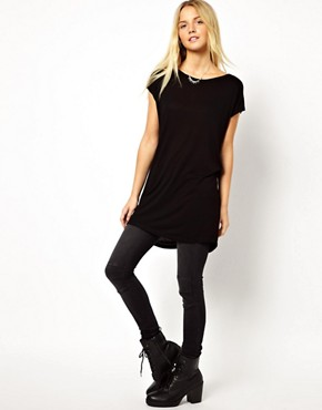 Image 4 ofASOS T-Shirt with Knot Back Detail